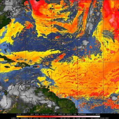 PRONÓSTICO DEL CLIMA: Disminuye ligeramente la presencia del polvo del Sahara en Quintana Roo