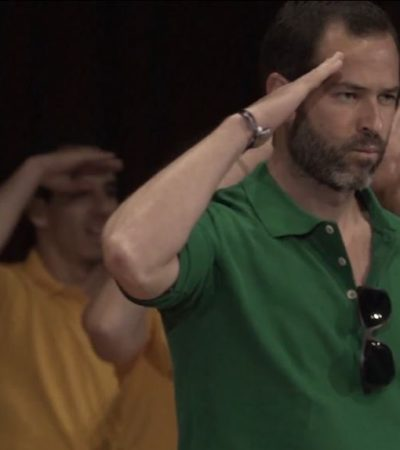 Revelan video de Emiliano Salinas bailando en celebración de líder de organización Nxivm investigada por casos de esclavitud sexual