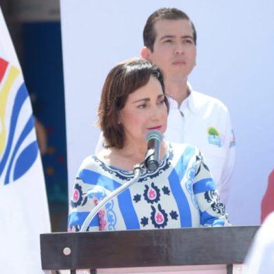 """""""DEBERÍAN DAR LA CARA"""": Asegura Catalina Portillo que desconoce quién o por qué colocaron una manta contra su persona"""