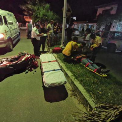 Derrapa por culpa de un perro en Chetumal