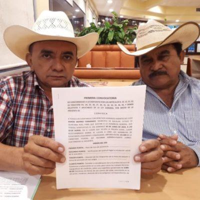 Ejidatarios de Bacalar acudirán ante el Registro Agrario Nacional para regularizar tierras, ante negativa de Alexander Zetina
