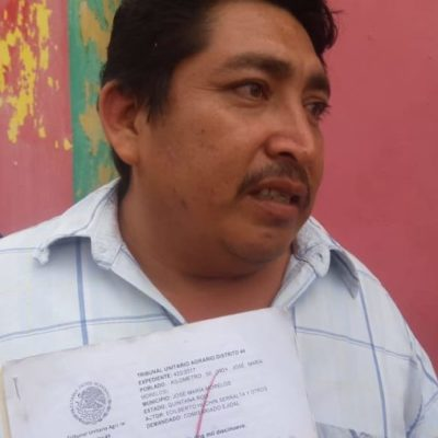 Edilberto Huchin se inscribirá a la candidatura para ser comisariado del Ejido Kilómetro 50