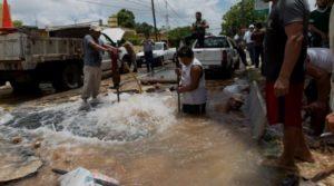 Habrá escasez de agua potable en más de cien colonias de Mérida por reparación de 'megafuga'