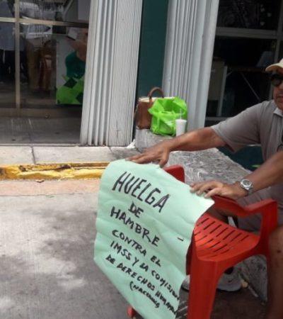 Ex funcionario de Cozumel inicia huelga de hambre para exigir castigo por supuesta negligencia médica del IMSS