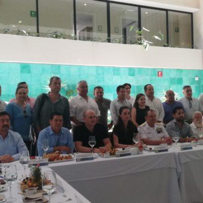 Se reúne el Comandante de la Quinta Región Naval de México con empresarios de Cancún para hablar sobre seguridad