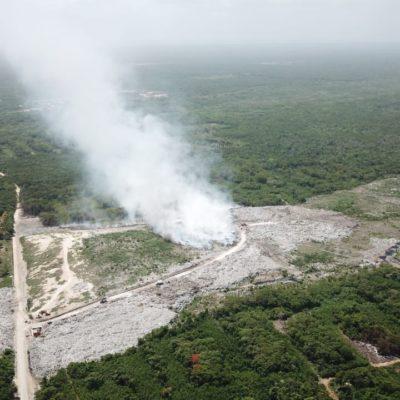 Incendio en el basurero de Chetumal, a mitad de ser apagado