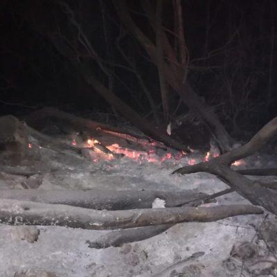 Denuncian incendio presuntamente provocado en Puerto Morelos