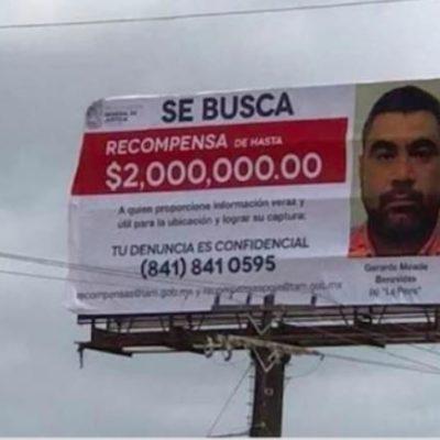 Ofrecen 2 millones de pesos por 'La Perra', presunto líder del Cártel del Golfo en Tamaulipas