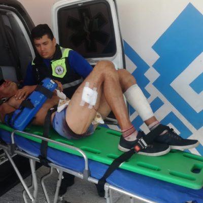 'Levantan', fracturan brazo y apuñalan a hombre en Playa del Carmen