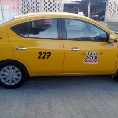 Aseguran arma y un taxi durante operativo en Mahahual