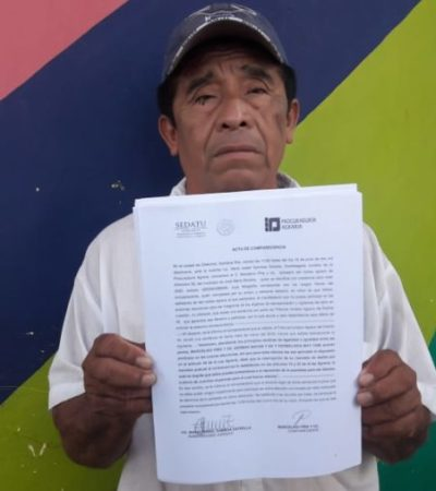 Marcelino Piña se postulará para la elección de comisariado ejidal del Kilómetro 50