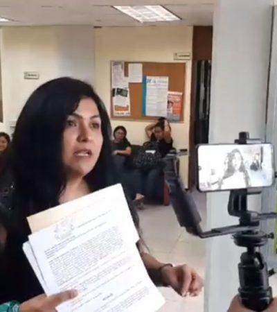 Yunitzilim Rodríguez, activista del colectivo Marea Verde y catedrática de la Uqroo fue reinstalada en sus actividades, tras despido injustificado