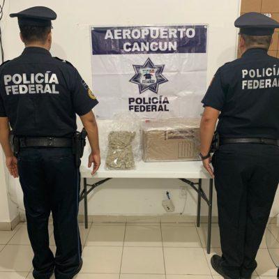 Detectan paquete con 1.2 kilos de marihuana en aeropuerto de Cancún