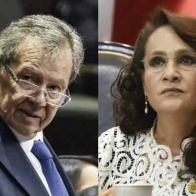 Acusa Muñoz Ledo a Ebrard de invadir facultades de la Segob y se enfrenta a Dolores Padierna por GN