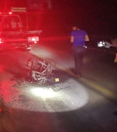 Muere motociclista tras derrapar sobre la carretera Playa-Tulum