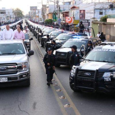 Renta Tabasco 180 nuevas patrullas cada una por 1 millón 270 mil pesos en promedio