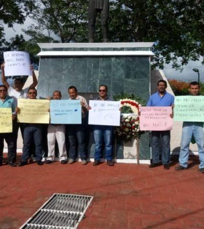 En el Día de la Libertad de Expresión, periodistas de Chetumal exigen respeto y cese de violencia