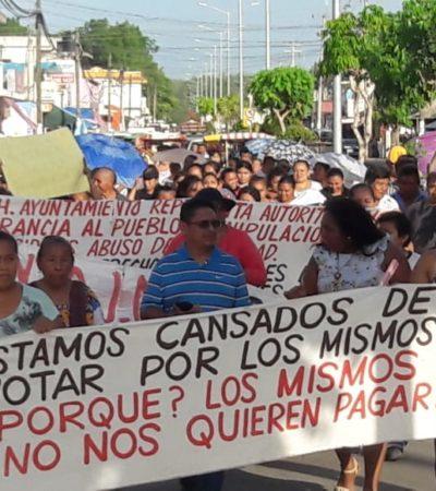 MARCHAN EX TRABAJADORES DEL AYUNTAMIENTO DE JMM: Anuncian triunfo en litigio laboral y reclaman pagos a la Alcaldesa