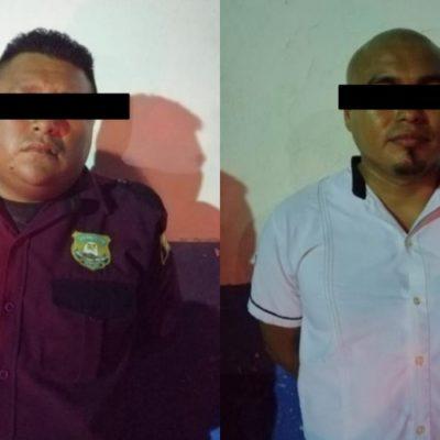 Detienen a guardia de seguridad y taxista que intentaban robar la caja fuerte de un hotel en Tulum