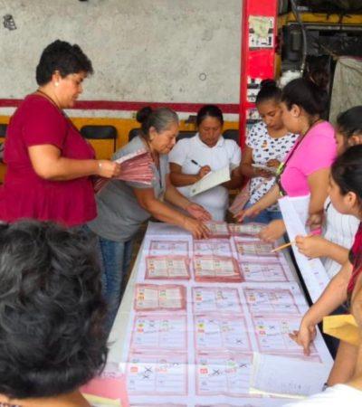 COMIENZA EL CONTEO DE VOTOS… GANÓ EL ABSTENCIONISMO: Salvo por el robo de boletas en una casilla de Cancún, la elección en QR transcurrió sin incidentes… y con baja participación