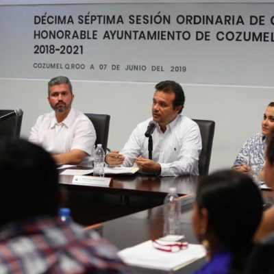 Avala Cabildo acciones para fortalecer la seguridad de Cozumel