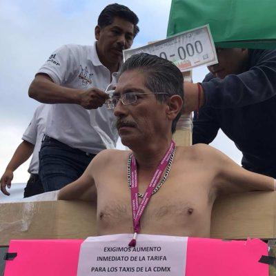 Atenderá Segob a taxistas en la CDMX luego de efectista protesta en contra de plataformas