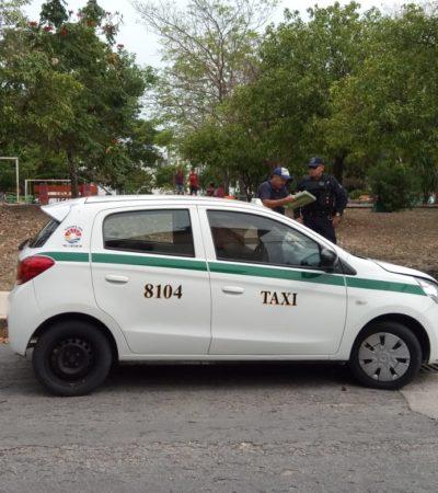 Hallan vehículo de taxista desaparecido en Cancún, pero de él no hay rastro