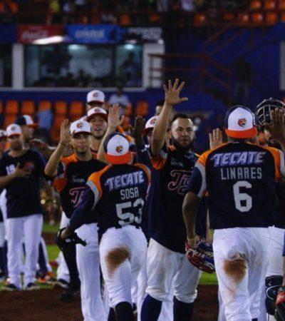 Los Tigres de Quintana Roo vencen 8-3 a los Diablos Rojos del México en el estadio Beto Ávila