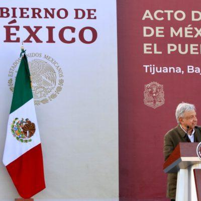 MITIN EN TIJUANA: Declara AMLO resuelto tema migratorio mediante diálogo y acuerdo con los Estados Unidos