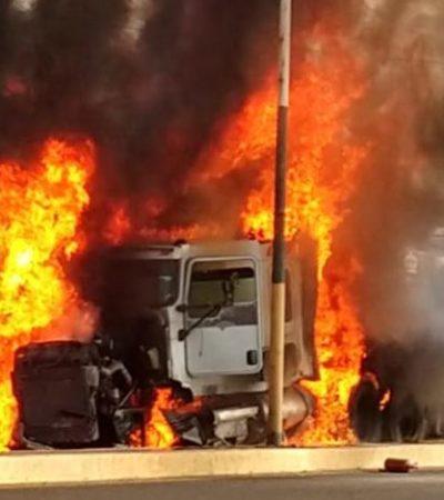 Embiste tráiler sin frenos a vehículos en la México-Cuautla; hay cinco muertos y al menos 15 heridos