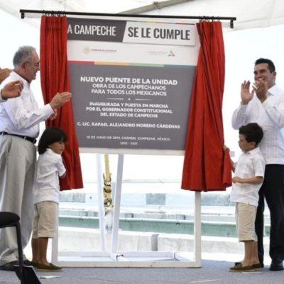 Inauguran 'Nuevo Puente La Unidad' en Campeche… tras casi siete años en construcción