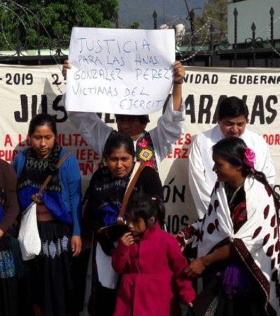 25 AÑOS SIN JUSTICIA: Abusaron militares de tres hermanas en Chiapas y no hubo castigo