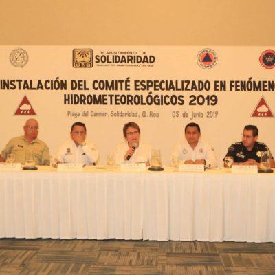 Instalan el Comité Especializado en Fenómenos Hidrometeorológicos de Solidaridad