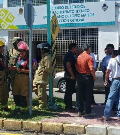 REPORTAN EXPLOSIÓN EN ESCUELA DE CHETUMAL: Estalla paquete bomba casero dirigido contra el director del plantel