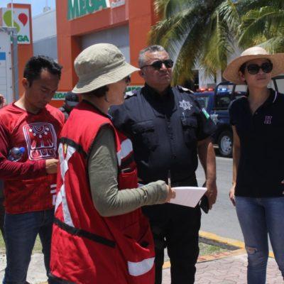 Verifican espacios para instalar más cámaras de seguridad en Playa del Carmen