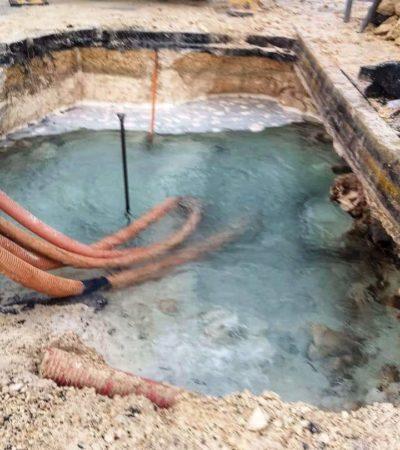 ROMPEN TUBERÍA POR REMODELACIÓN EN 'EL CRUCERO': Dejan sin agua al menos a 45 supermanzanas y el corredor Puerto Juárez-Punta Sam