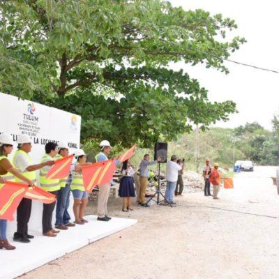 Ayuntamiento de Tulum da inicio a obras de pavimentación en Akumal