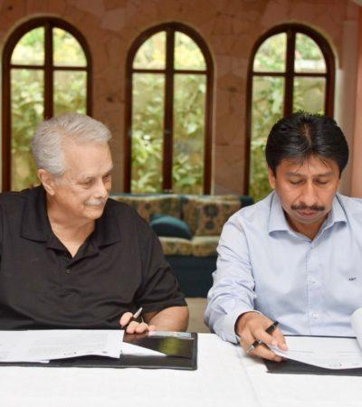 Firma Ayuntamiento de Tulum convenio con Asociación de Vecinos de Akumal Norte