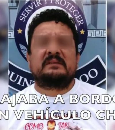 Cae presunto responsable de robos a comercios en Cancún