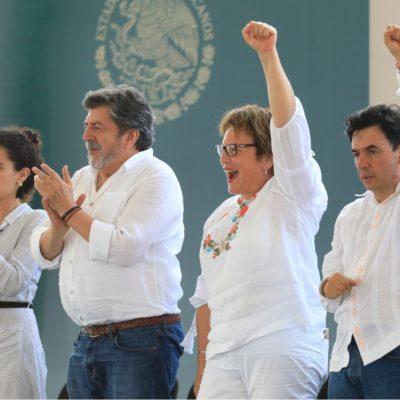 En visita de AMLO a Playa, destaca Laura Beristain las obras sociales que financiará la Federación a través de la Sedatu y que superan el monto de 500 mdp