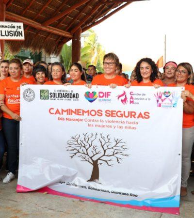 Se suma Alcaldesa a marcha en contra de la violencia a la mujer y las niñas en Solidaridad
