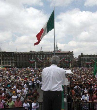 Anuncia AMLO que ofrecerá 'informe' de los avances de la 4T en el zócalo capitalino el 1ro. de julio