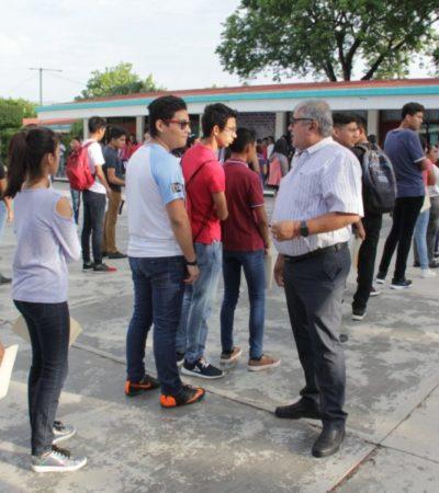Casi 20 mil jóvenes presentan examen de admisión para el Colegio de Bachilleres en QR
