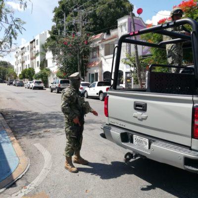 Catean una presunta casa de seguridad en edificio de condominios frente al ADO en Playa del Carmen