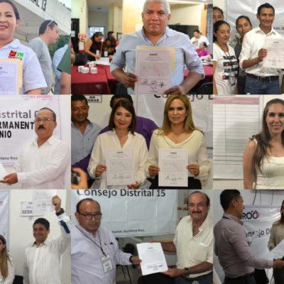 AVALAN A FUTUROS DIPUTADOS: Entregan constancias de mayoría a legisladores electos en Quintana Roo