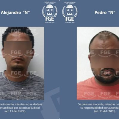 Detienen agentes ministeriales a dos imputados por el delito de despojo en Tulum