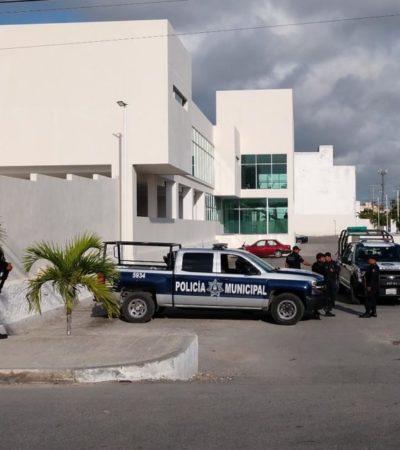 """Fuerte operativo de seguridad durante la comparecencia de """"El Sincler"""" en los Juzgados Orales Penales de Cancún"""