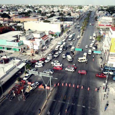 ASÍ INICIÓ LA REMODELACIÓN DE 'EL CRUCERO': Con caos vial y preocupación de los comerciantes por las afectaciones económicas, comienzan obras en emblemático parque de Cancún