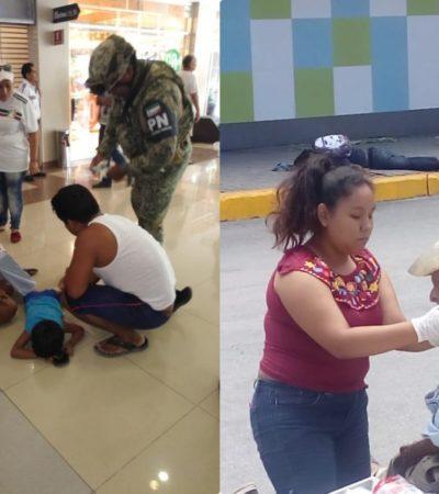 ATAQUE A BALAZOS EN EL CRUCERO DE CANCÚN: Dos muertos y tres heridos, entre ellos un menor de edad, saldo de repentina violencia en sábado; detienen a dos presuntos sicarios y buscan a un tercero