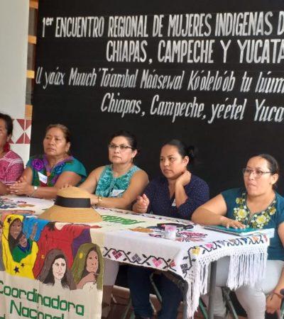 ENCUENTRO EN CARRILLO PUERTO: Debaten mujeres mayas del Sureste sobre derechos indígenas